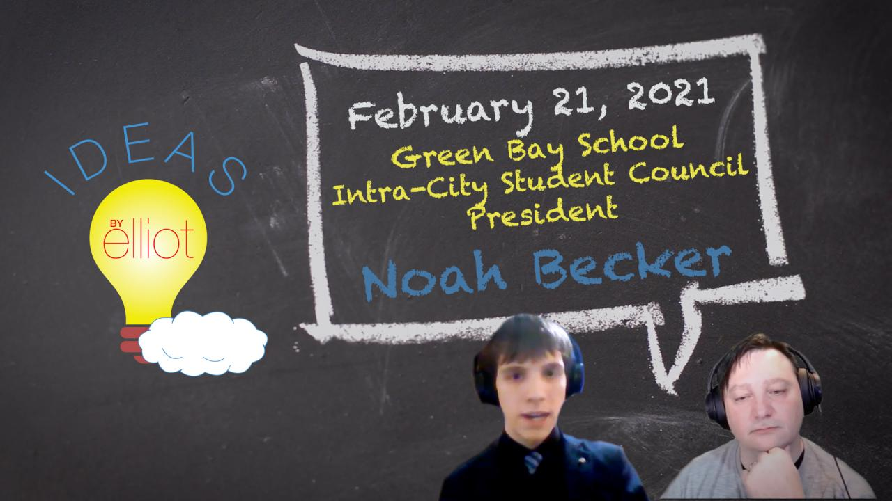 Green Bay's Intra-City Student Council President Noah Becker